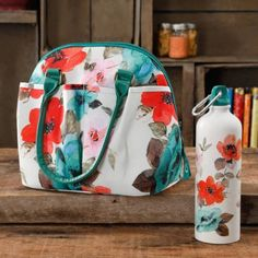 The Pioneer Woman Lunch Tote with Water Bottle, Multiple Colors - Walmart.com