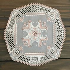 Hardanger Embroidery Centerpiece Doily
