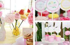 Darling Pink Flower Party with Rustic Charm