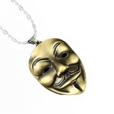Guy Fawkes 3D Necklace V For Vendetta Anonymous