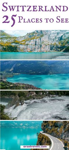 25 things to see in amazing Switzerland. Find out where to go in Switzerland plus all the important travel information you need for Switzerland. #travel #travelguide #switzerland