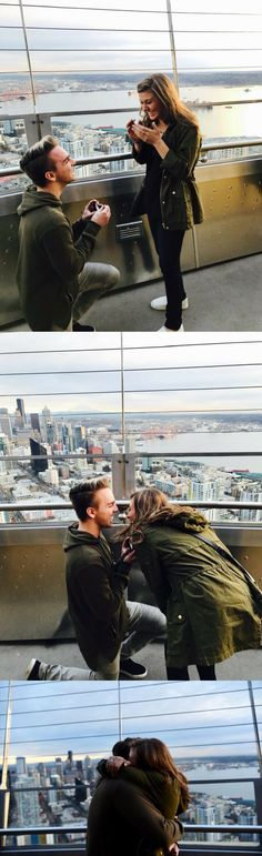 So obsessed with this surprise proposal at the top of the Space Needle! It was such a perfect way to pop the question.