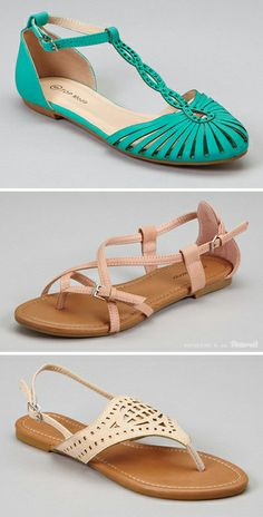 Top Moda Sandals - LOTS of cute styles. LOVE the turquoise sandals!