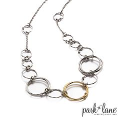 Front Row Necklace, works great on it's own or layered with the Fusion Set.