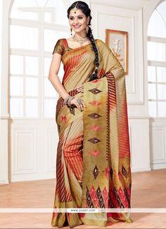 Fine Gold Weaving Work Art Silk Designer Traditional Saree Model: YOSAR10872