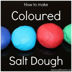 How to make coloured salt dough. A simple salt dough recipe for kids to use to make salt dough crafts. How to make coloured salt dough. A simple salt dough recipe for kids to use to make salt dough crafts. Salt Dough Christmas Ornaments, Homemade Ornaments, How To Make Ornaments, Diy Ornaments, Clay Crafts For Kids, Christmas Crafts For Kids, Holiday Crafts, Homemade Christmas, Felt Christmas