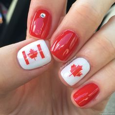 Canada Day nail stickers from Dollar Tree