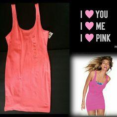 Nwt Love Pink Tank Dress