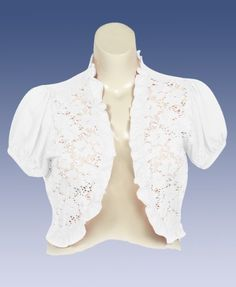 Plus Size White Crochet Shrug Extra Touch. $25.00