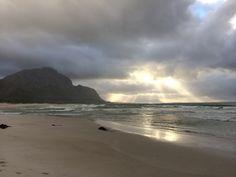 Sunrise, morning walk on Main Beach, Betty's Bay.