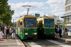 13-5163 | Trams in downtown Helsinki | George Hamlin | Flickr