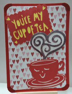Cup of Tea Valentine's Day Card, Silhouette Cameo
