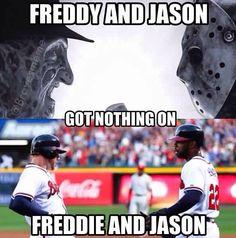 Freddie freeman and Jason heyward, great young braves !#rebuildingmylife