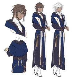 Fantasy and Historical Fiction character. Fantasy Character Design, Character Creation, Character Design Inspiration, Character Concept, Character Art, Anime Guys, Manga Anime, Drawing Clothes, Dnd Characters