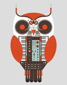http://www.behance.net/gallery/The-Owl-is-a-DJ/4619367#  Tony Bamber