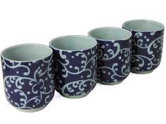 Japanese Tea Cups Set for Four www.mrslinskitchen.com/t2174.html?gclid=CLOR472piMYCFVU2QodYklAGA