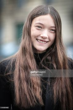 Model Yumi Laura Lambert is seen, after the Roland Mouret show, during Paris Fashion Week, Womenswear Fall Winter 2016/2017, on March 6, 2016 in Paris, France.