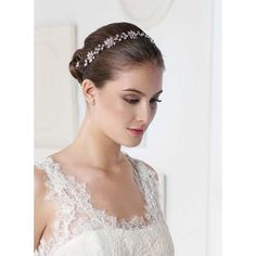 The Samuela Bridal Headband is stunning under the reflection of lights.  This piece is flexible to wear and offers a bride two options for styling. Its fitted with a double thin hair elastic so as to be worn as a bridal headband on the crown of the head of lower on the forehead.  Measurement:  The stone setting measures at 31cm long x  16cm (unstretched hair elastic) x 2.1cm at its widest point. This piece is presented in Roman
