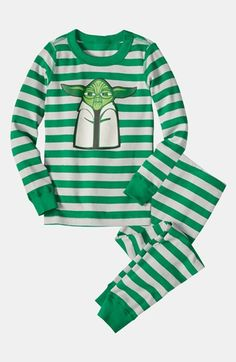 Hanna Andersson Two Piece Fitted Pajamas (Toddler Boys) available at #Nordstrom