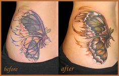 tribal tattoo cover up before after - Google Search
