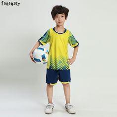 0f2a54565 buy football jersey set new kids soccer training suits sports sets football  kits boys custom jerseys