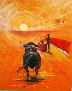 Arte taurino Toros Las Vegas pintor Francisco Alvarez