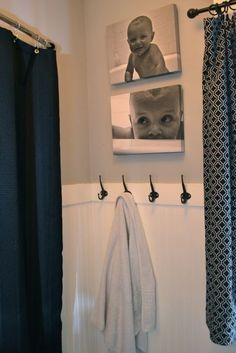 Tub pictures in the bathroom Kids Bath Decoration Inspiration, Bathroom Inspiration, Decor Ideas, Gift Ideas, Bathroom Kids, Bathroom Black, Bathroom Colors, Kids Bathroom Storage, Hooks In Bathroom