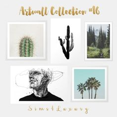 Sims4Luxury: Artwall collection 16 • Sims 4 Downloads