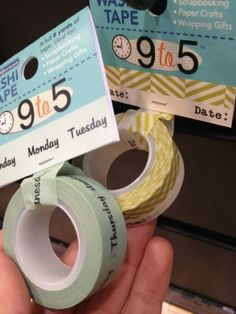 October Afternoon 9 to 5 Washi Tape by laura