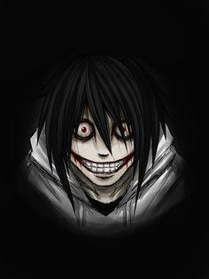 by HikariNOSora on DeviantArt Jeff The Killer, The Puppeteer Creepypasta, Scary Creepypasta, Dark Anime, Blue Anime, Arte Emo, Scary Drawings, Arte Obscura, Image Manga