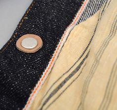 Single stitch plus orange selvedge