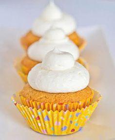 Gluten-Free Lemon Cupcakes (almond flour and coconut flour) Gluten Free Cupcakes, Gluten Free Sweets, Gluten Free Baking, Dairy Free Recipes, Lemon Cupcakes, Yummy Cupcakes, Amazing Cupcakes, Beautiful Cupcakes, Cupcake Recipes