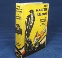 THE MALTESE FALCON (by Hammett, Dashiell. Fine Copy of the First Edition in Unrestored Original Publisher's Dust Jacket)  New York: Knopf, 1930.  A FINE, bright and unworn copy in a NEAR FINE dust jacket.. 8vo. 268pp. Publisher's original gray cloth decorated in black and blue, with the Falcon decoration to the front board and top edge stained blue. Adapted in 1941 into the legendary film noir starring Humphrey Bogart.   (visit site to see more)  Listed by Lakin & Marley Rare Books.