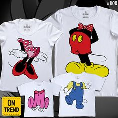 Mickey t-shirts Set for a family Matching Family by ONTRENDclothes