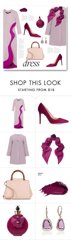 """On Trend: Two-Tone Dresses"" by bliznec ❤ liked on Polyvore featuring Roksanda Ilincic, L.K.Bennett, navabi, Halston Heritage, Gucci, Urban Decay, Valentino, Collette Z, polyvoreeditorial and polyvorecontest"