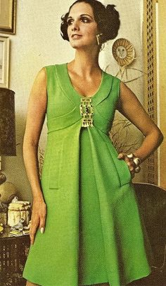 cocktail dress by Donald Brooks for Vogue, Spring 1970.