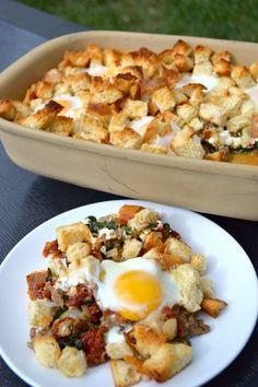 Recipe for a delicious Italian Breakfast Casserole!