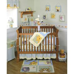 This is our nursery theme which I am trying to match with Etsy items (I don't like the wall hangings in this KidsLine collection).