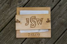 Hand Carved Personalized Wooden Napkin Holder ~ 8X8 ~ Woodworking ~