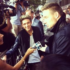 "One Direction's Instagram: Best of Niall Horan""Niall and Liam joking around in interviews! 1DHQ x #1dmoviepremiere""Photo: Instagram  Love those Boys! <3"
