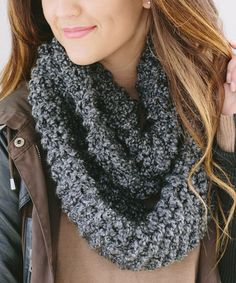 This Smoky Gray Infinity Scarf by Bglorified Boutique is perfect! #zulilyfinds
