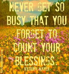 Blessed Quotes That Inspire | Blessings quote via www.KatrinaMayer.com