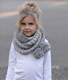 KNITTING PATTERN-The Tussock Scarf Toddler Child by Thevelvetacorn