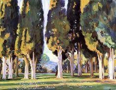 St. Cassien, Cannes, France  - Wilfred Gabriel De Glehn c. 1925  British, 1870 - 1951  Oil on canvas, 55.88 x 71.12 cm