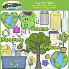 Love Our Planet Clip Art Download - $3.50 : Scrappin Doodles, Creative Clip Art, Websets & More