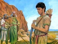 Nephi and his broken bow