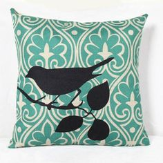 6.22$  Watch here - http://dizvf.justgood.pw/go.php?t=151389103 - Charming Bird Printed Square Composite Linen Blend Pillow Case