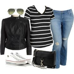 Simple casual - Plus Size, created by alexawebb on Polyvore