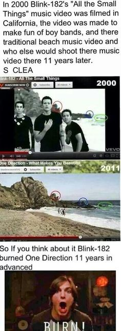 Blink-182 made fun of One Direction before they existed