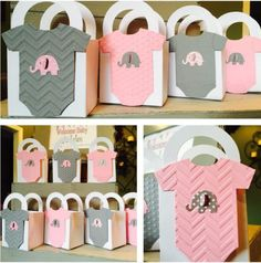 Baby Shower Pink and Gray Elephants - Dale Details